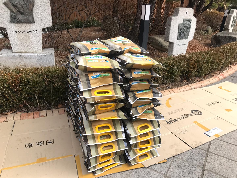 [2월나눔] 천주교구의동성당 쌀 50포대 지원